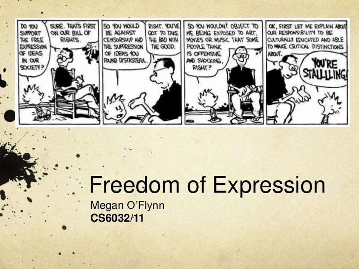 Freedom of Expression<br />Megan O'Flynn<br />CS6032/11<br />