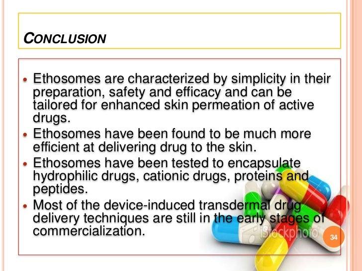 ethosomal formulation as a carrier for transdermal delivery Hot and cold methods are used for formulation of ethosomes  keywords:  ethosomes, transdermal, vesicular carriers, ethanol, phospholipid.