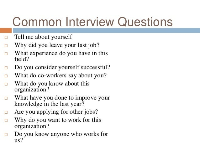 how to make a good interview presentation