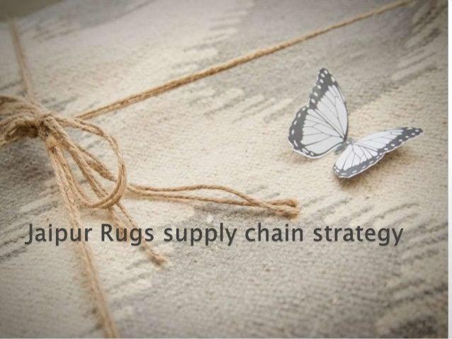 Presentation on jaipur rugs