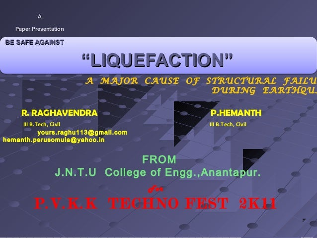 Presentation on liquefation @ pvkk by raghavendra