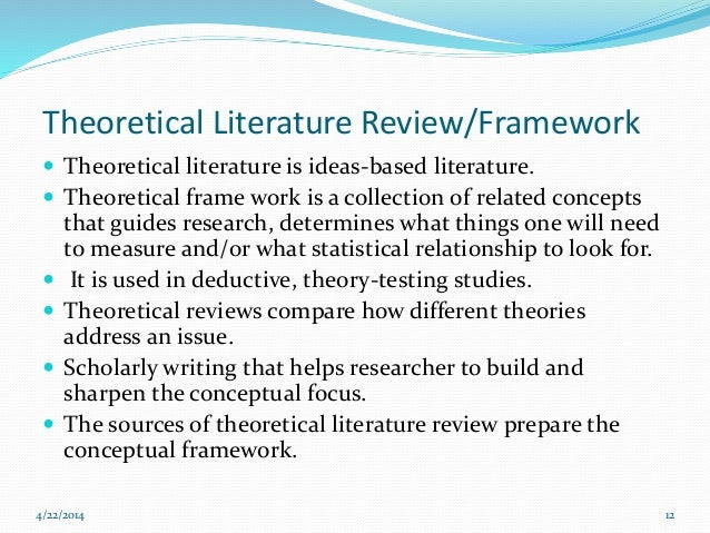 a report on literature
