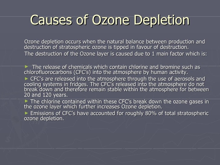 ozone layer depletion and natural resources Depletion of the ozone layer  ozone is continually generated and broken down through natural processes in the stratosphere  ozone-depletion of up to 10 per.