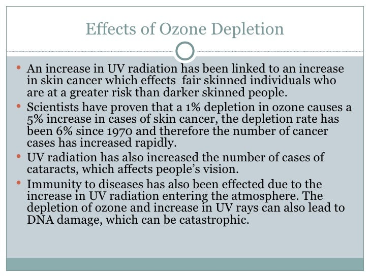 Thesis statement for ozone depletion