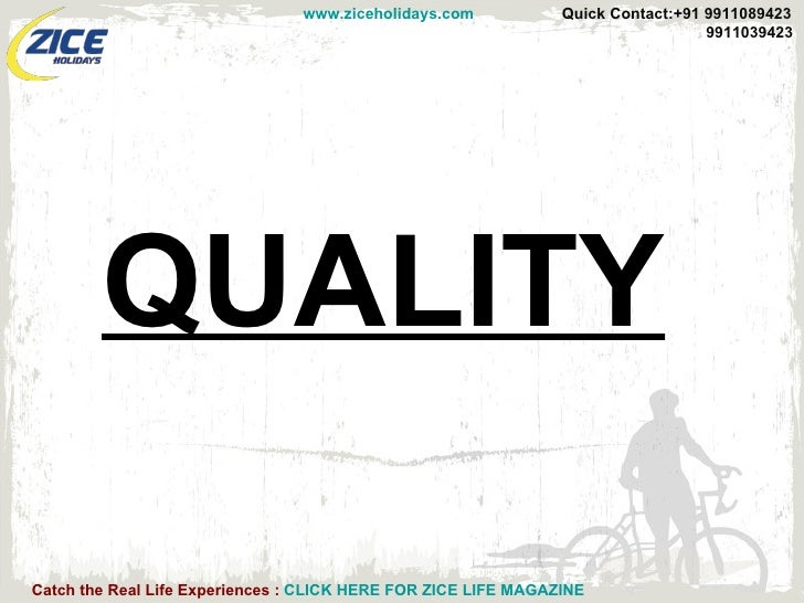 Presentation On Quality