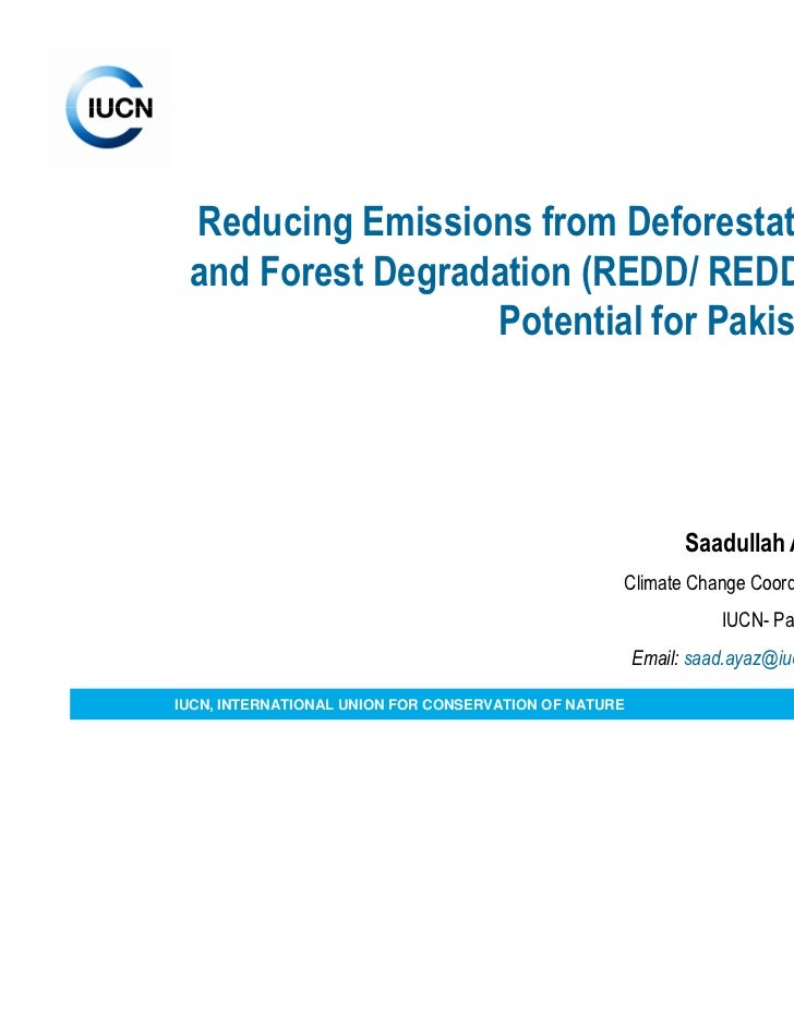 Presentation on REDD application for Pakistan Saadullah Ayaz