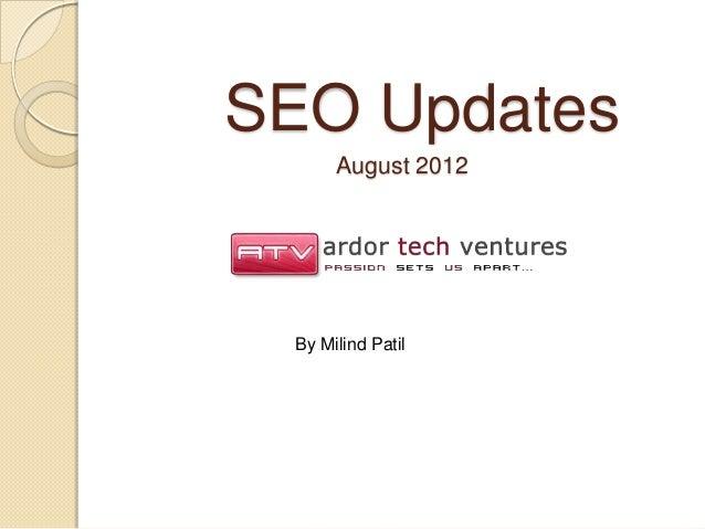 Presentation on seo updates