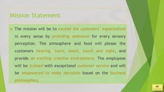 restaurant concept statement essay Working with this module in order to understand the concepts better the module consists of three main parts • a comparison and contrast essay examines the similarities (compares) attention and invite them to read the essay your opening statement usually determines if.
