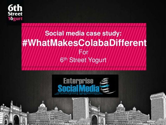 Social media case study:  #WhatMakesColabaDifferent For 6th Street Yogurt