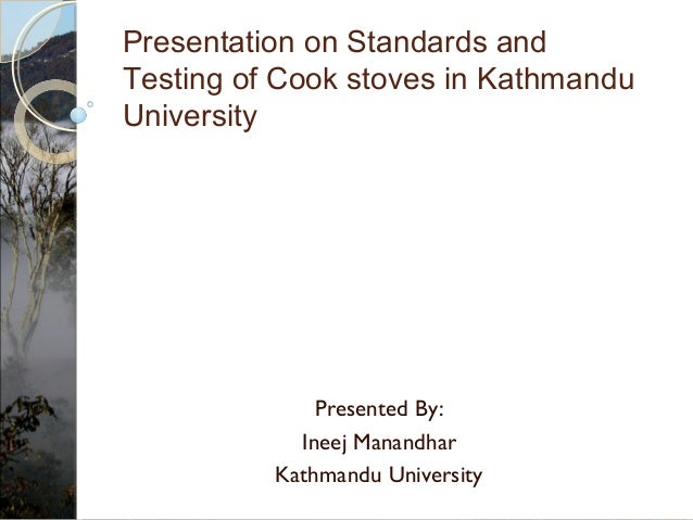 4. Presentation on standards and testing of cook stoves