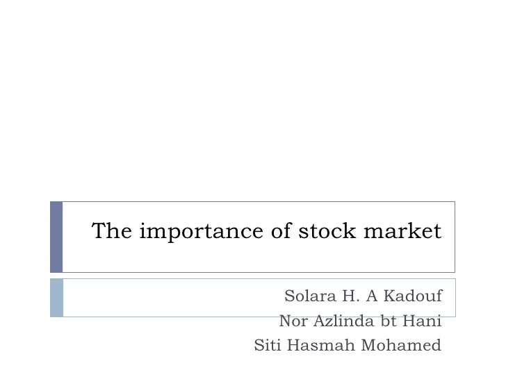 Presentation on stock market and growth