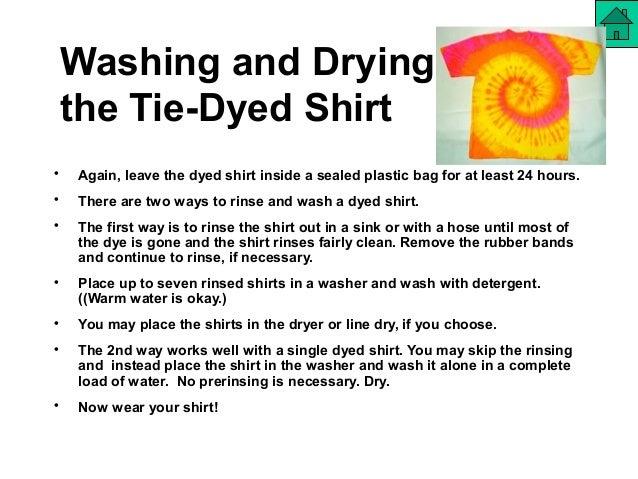 garments tie dyeing