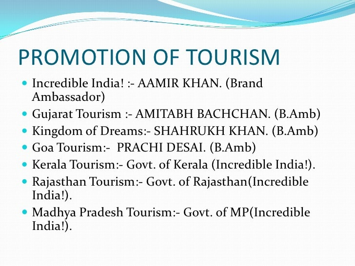 thesis tourism promotion The need for foreign currency has been intensified by the new export promotion policies which tourism under these or thesis and wish.