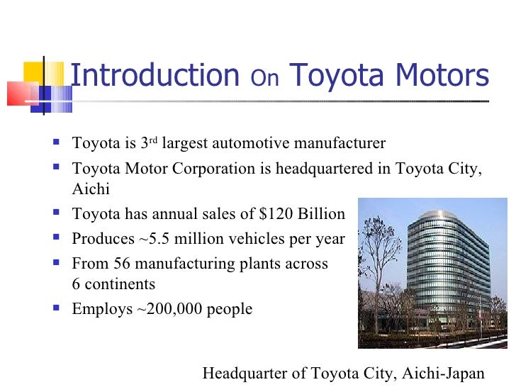 a comparative analysis of toyota and general motors essay Situational analysis: swot analysis the toyota motors swot analysis is as follows the company is still behind rivals general motors with 8 59 million units in the same period opportunities lexus and toyota now have a reputation for manufacturing environmentally.