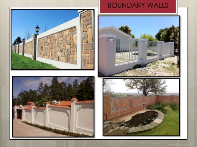 Presentation on walls and wall opening for House outer painting design