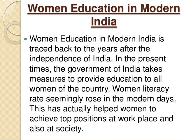 essay on women education Why do we discuss the importance of women education in india does a male fear that educated women will snatch their bread or is their ego that comes in between as he thinks he is superior.