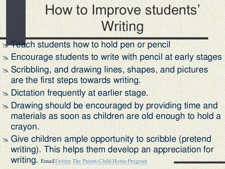 how to improve on writing essays How to teach your students to write an essay  the last thing to do before starting to write an essay is to make its outline  dramatically improve the way you.
