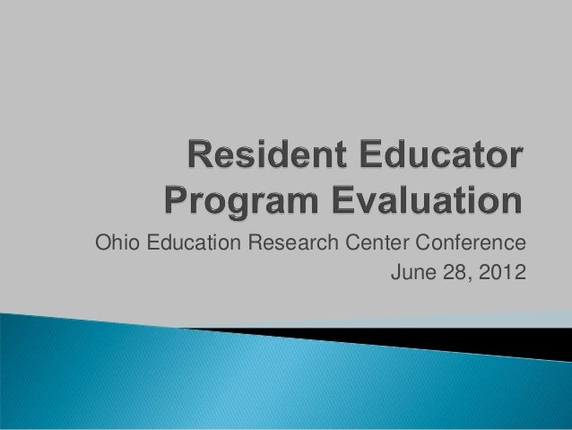 Ohio Education Research Center Conference                            June 28, 2012