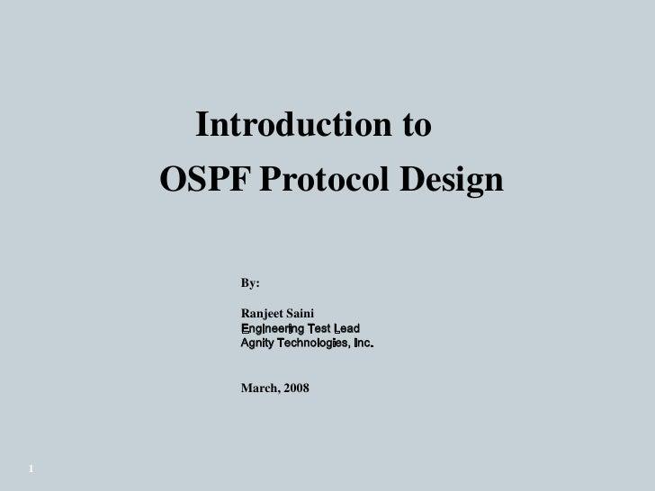 Presentation Ospf Ranjeetv0.2