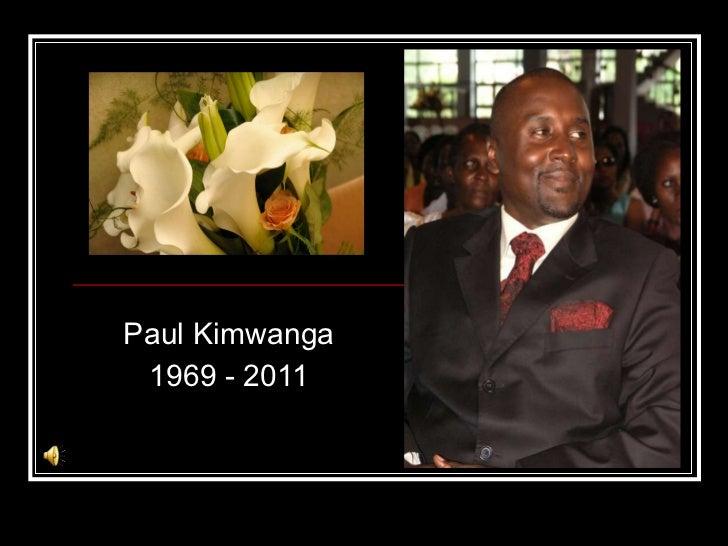 Paul Kim Memorial Presentation UK
