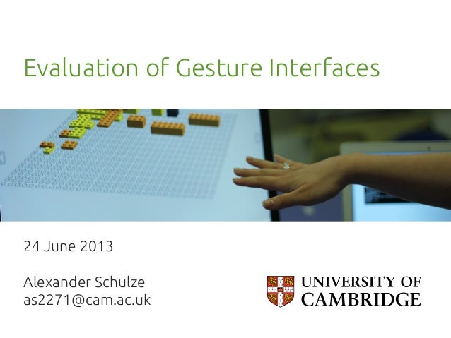 Evaluation of 3d gesture interfaces