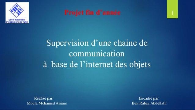 Supervision d'une chaine de communication à base de l'internet des objets Réalisé par: Encadré par: Moula Mohamed Amine Be...