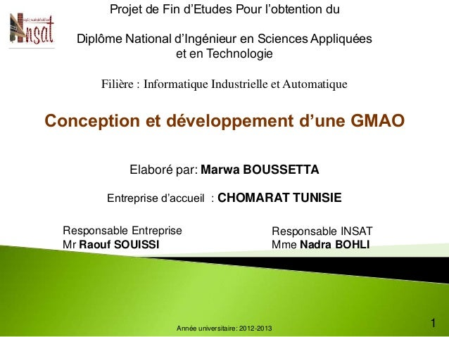 Conception et développement d'une GMAO