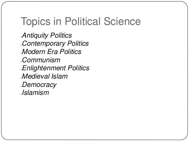 Political Science Research Topic?