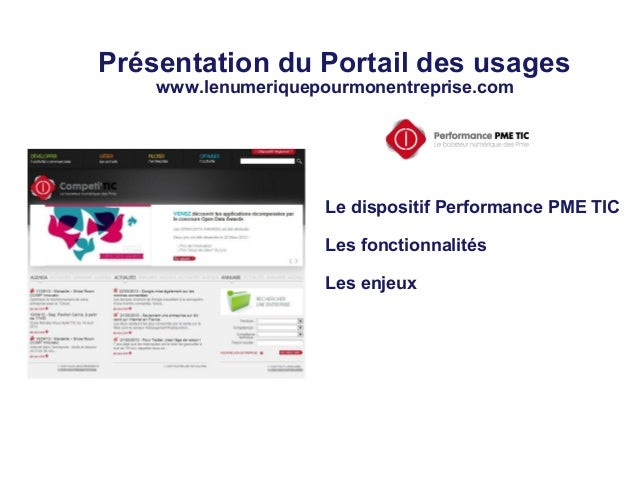 Presentation portail des usages