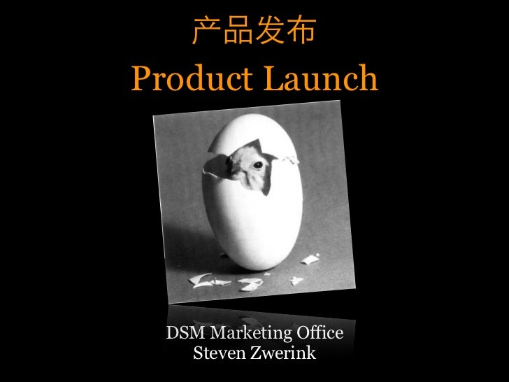 Product Launch       DSM Marketing Office     Steven Zwerink