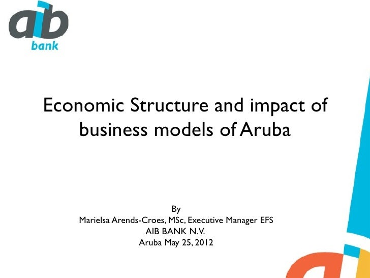 Economic Structure and impact of    business models of Aruba                           By    Marielsa Arends-Croes, MSc, E...