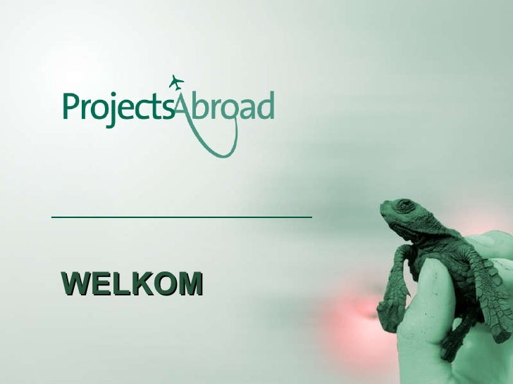 Vrijwilligerswerk buitenland - Presentatie Projects Abroad