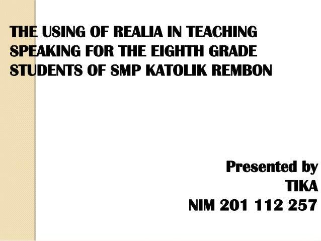 thesis about realia