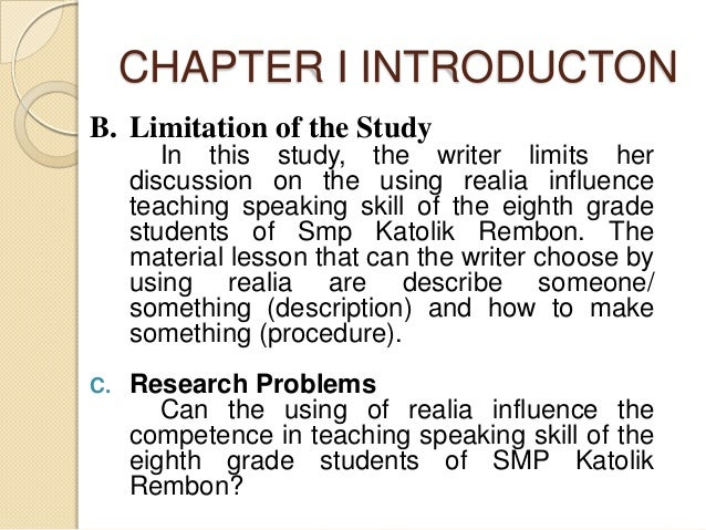 scope limitation of the study of salons Organizing academic research papers: limitations of the study the limitations of the study are those characteristics of design or methodology that impacted or influenced the application or interpretation of the depending on the currency or scope of your research topic, there may be.
