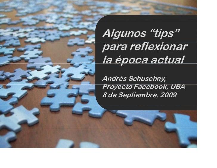 Presentación en el proyecto Facebook (UBA)