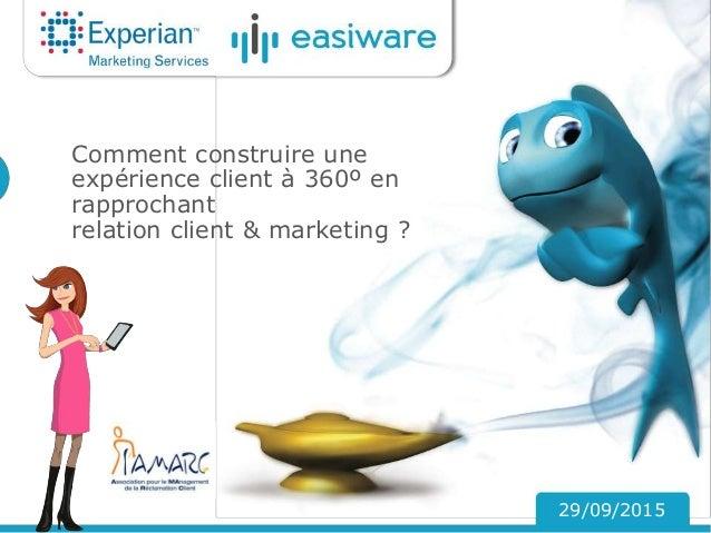 Comment construire une expérience client à 360º en rapprochant relation client & marketing ? 29/09/2015