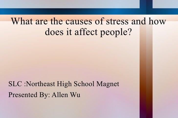 What are the causes of stress and how does it affect people? <ul><li>SLC :Northeast High School Magnet </li></ul><ul><li>P...
