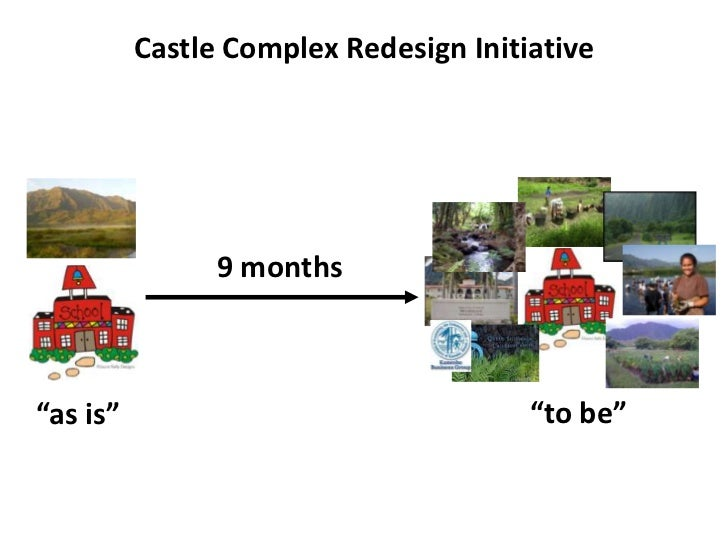 """Castle Complex Redesign Initiative                9 months""""as is""""                                """"to be"""""""