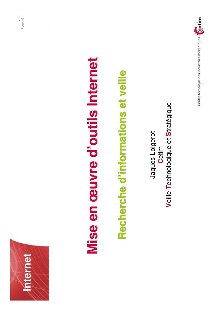 VTS                                                        Page 1/34  Internet            Mise en œuvre d'outils Internet ...