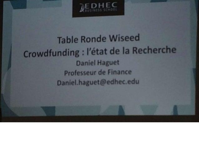 Réunion présentation crowdfunding Wiseed