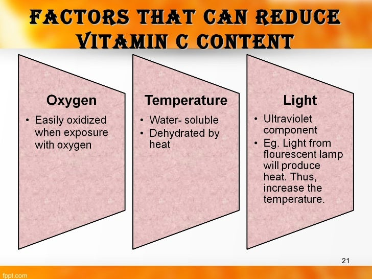 analysis of vitamin c content Journal of food composition and analysis 19 (2006) 434–445 original article ascorbic acid, vitamin a, and mineral papaya vitamin c content was 512mg.
