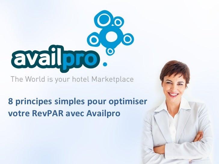 Availpro - 8 principes pour optimiser son RevPar
