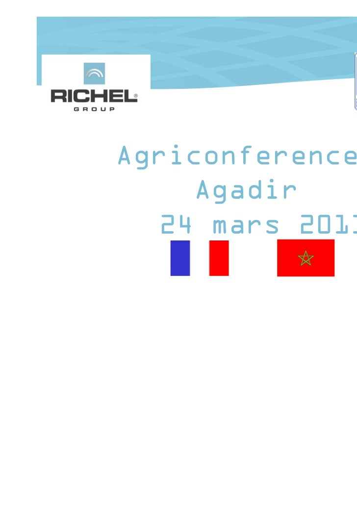 Agriconferences     Agadir   24 mars 2011