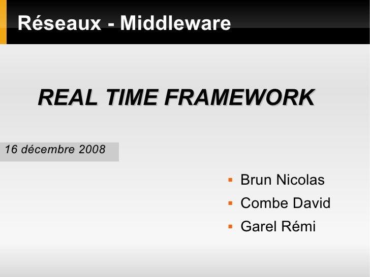 Réseaux - Middleware <ul><li>Brun Nicolas </li></ul><ul><li>Combe David </li></ul><ul><li>Garel Rémi </li></ul><ul><li>REA...