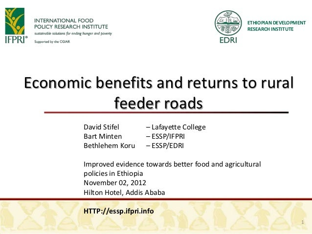Economic Benefits and Returns to Rural Feeder Roads
