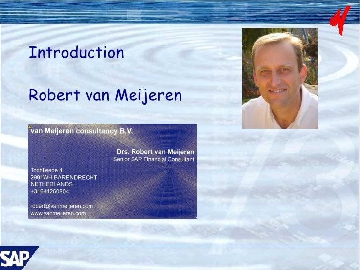Presentation Robert Van Meijeren English