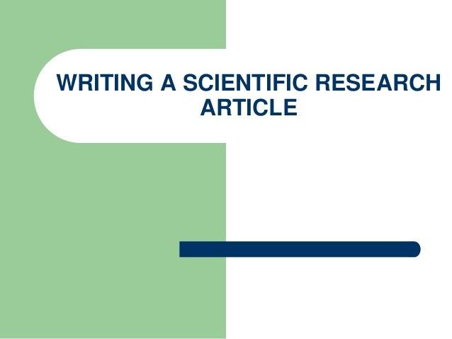 Writing scientific articles
