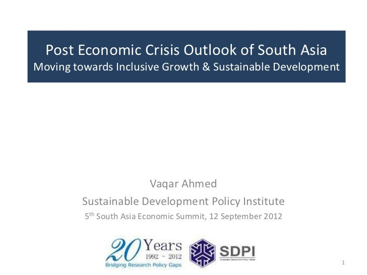 Post Economic Crisis Outlook of South Asia