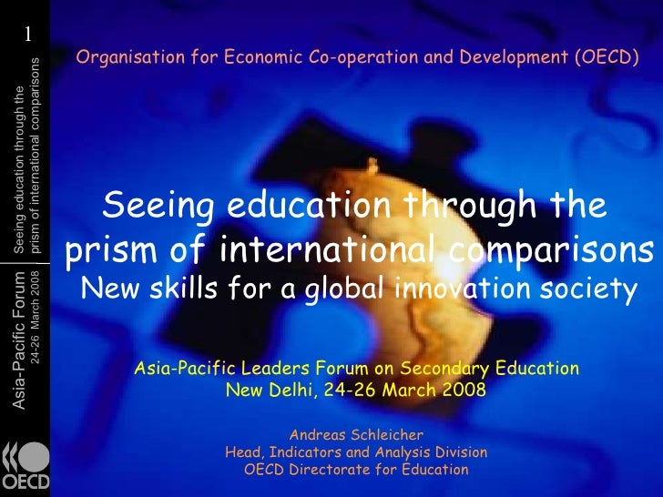 Seeing education through the prism of international comparisons: New skills for a global innovation society
