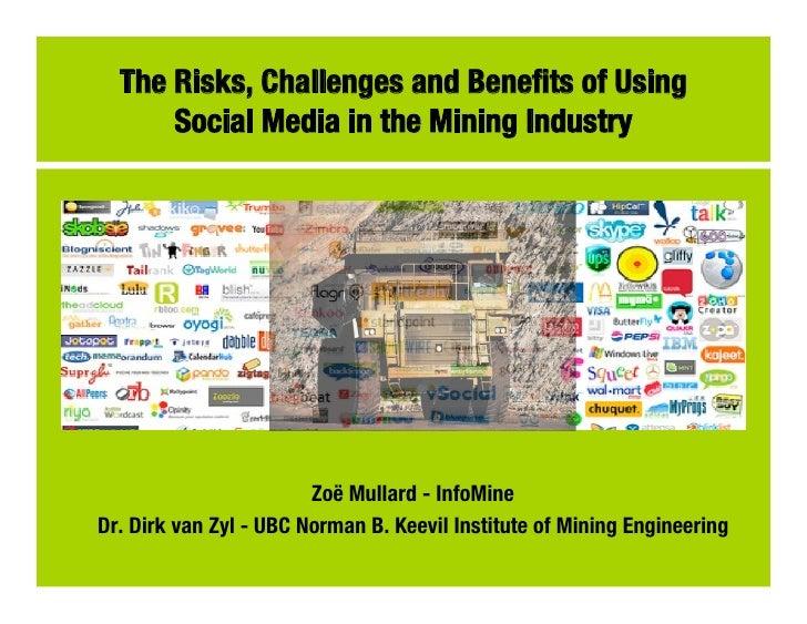 Presentation sdimi risks, challenges and benefits of social media 2011